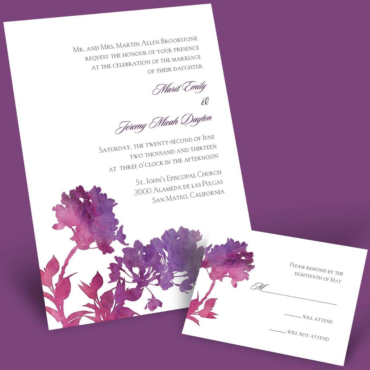 Purple & Champagne Colour Scheme | Fantastical Wedding Stylings