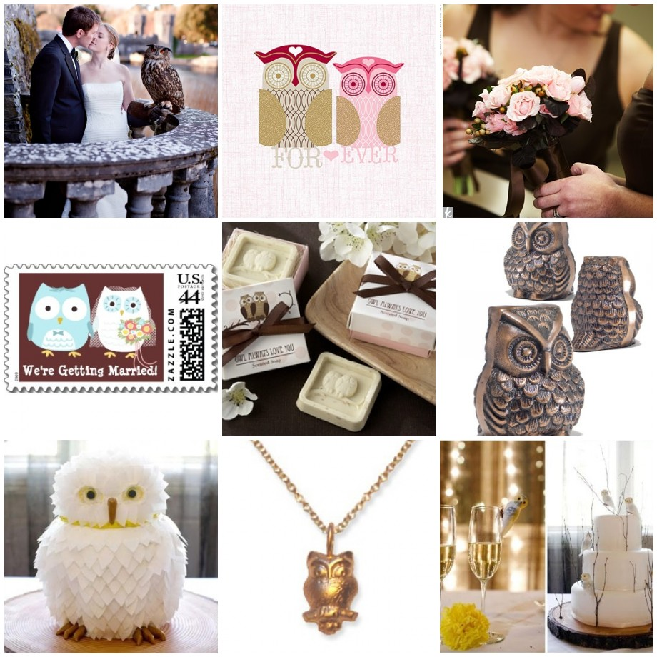 Owl Wedding Theme Fantastical Wedding Stylings