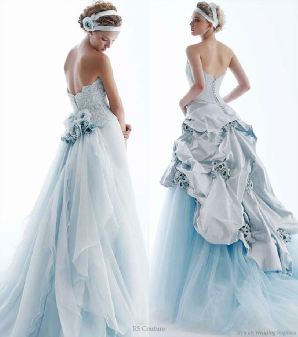 Coloured Wedding Dresses Fantastical Wedding Stylings