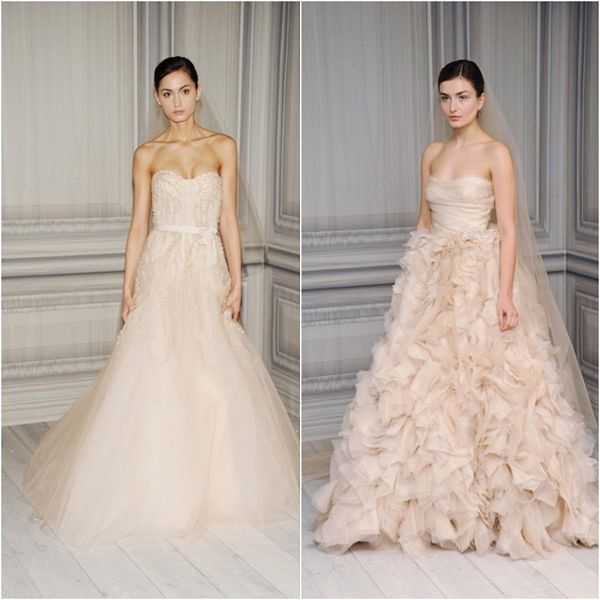 Images Of Blush Wedding Dresses : Coloured wedding dresses fantastical stylings