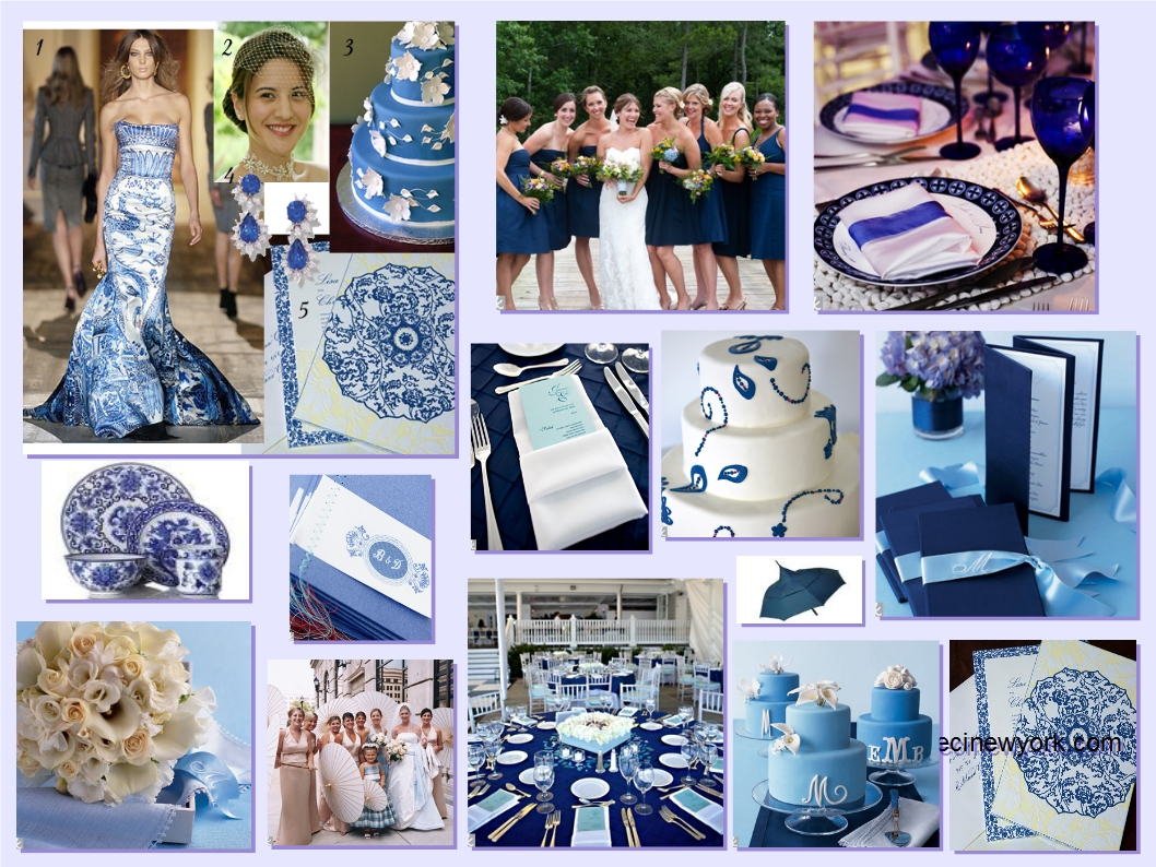 Blue Porcelain Wedding Theme Fantastical Wedding Stylings