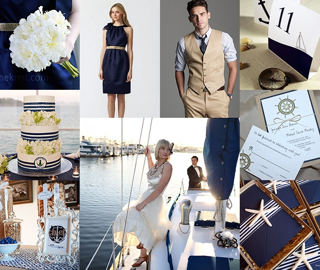 Nautical wedding theme fantastical wedding stylings for Navy blue wedding theme ideas