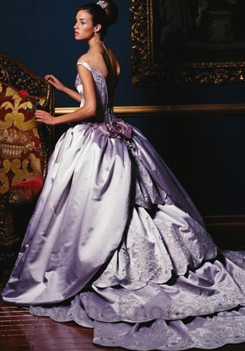 Purple wedding dress 2 fantastical wedding stylings for Wedding dresses with purple trim