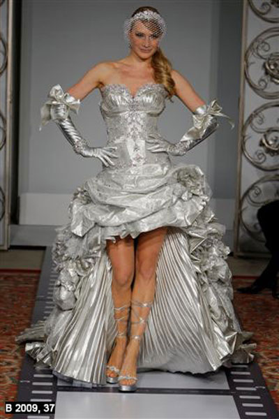 Silver wedding dress 2 fantastical wedding stylings for Silver dresses to wear to a wedding