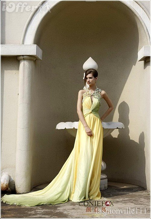 Then consider wearing a yellow wedding dress for your special day