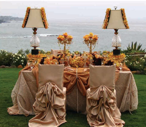 The sweetheart table fantastical wedding stylings