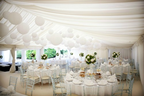 White Out Wedding Theme