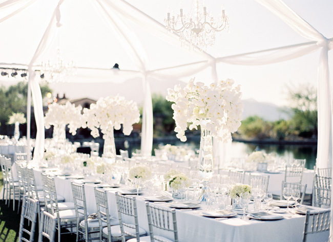 Gorgeous Outdoor Ceremony Venue All White Wedding: Fantastical Wedding Stylings