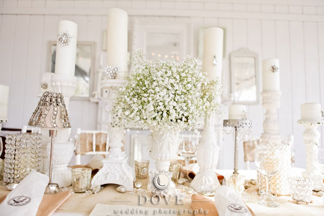 White out wedding theme fantastical wedding stylings for All white wedding theme pictures