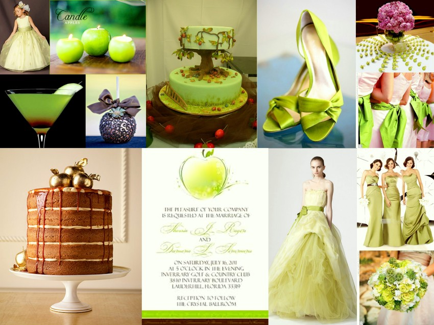 Apple Wedding Collage