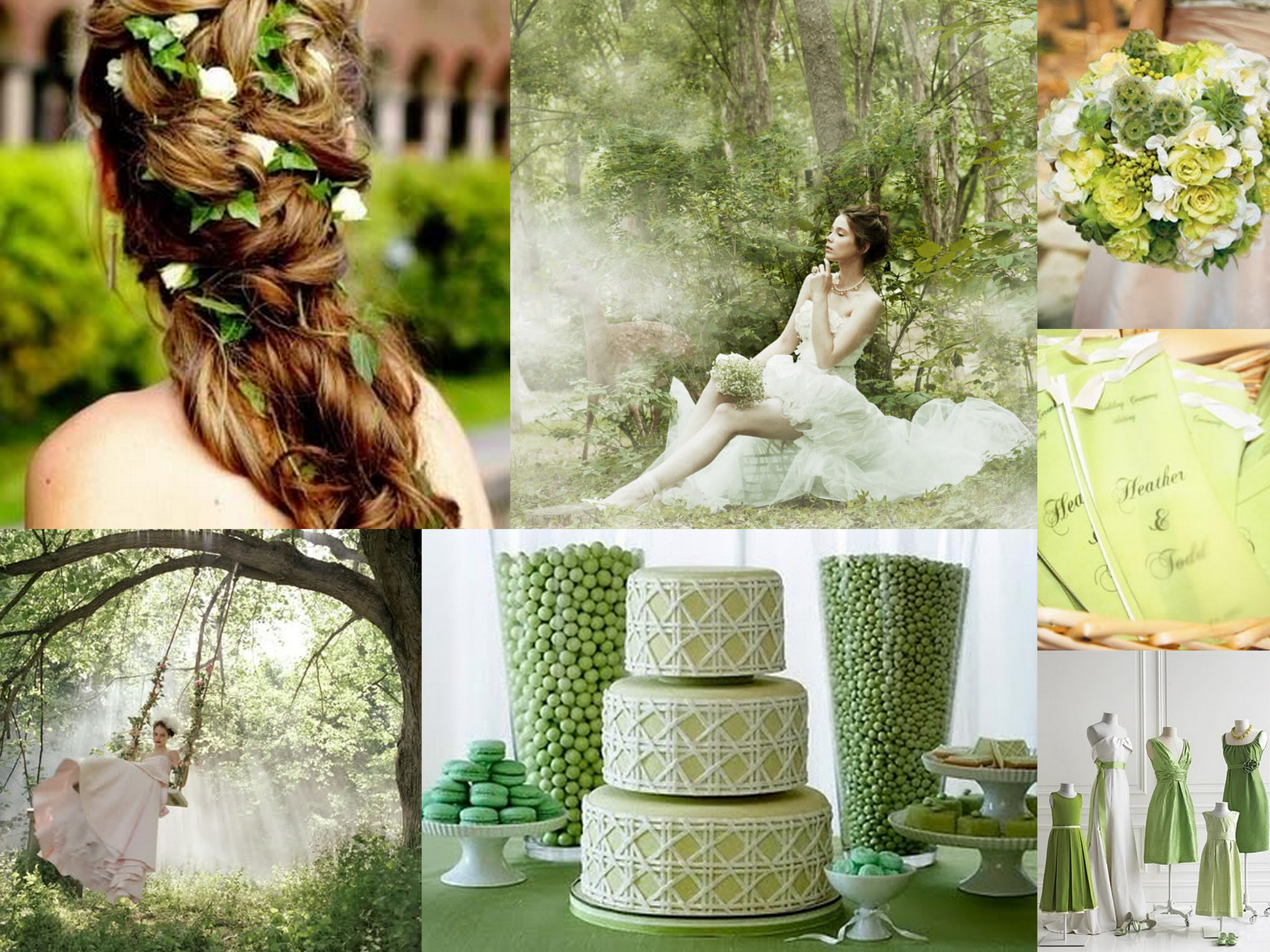 St. Patrick\'s Day Wedding Theme Board | Fantastical Wedding Stylings