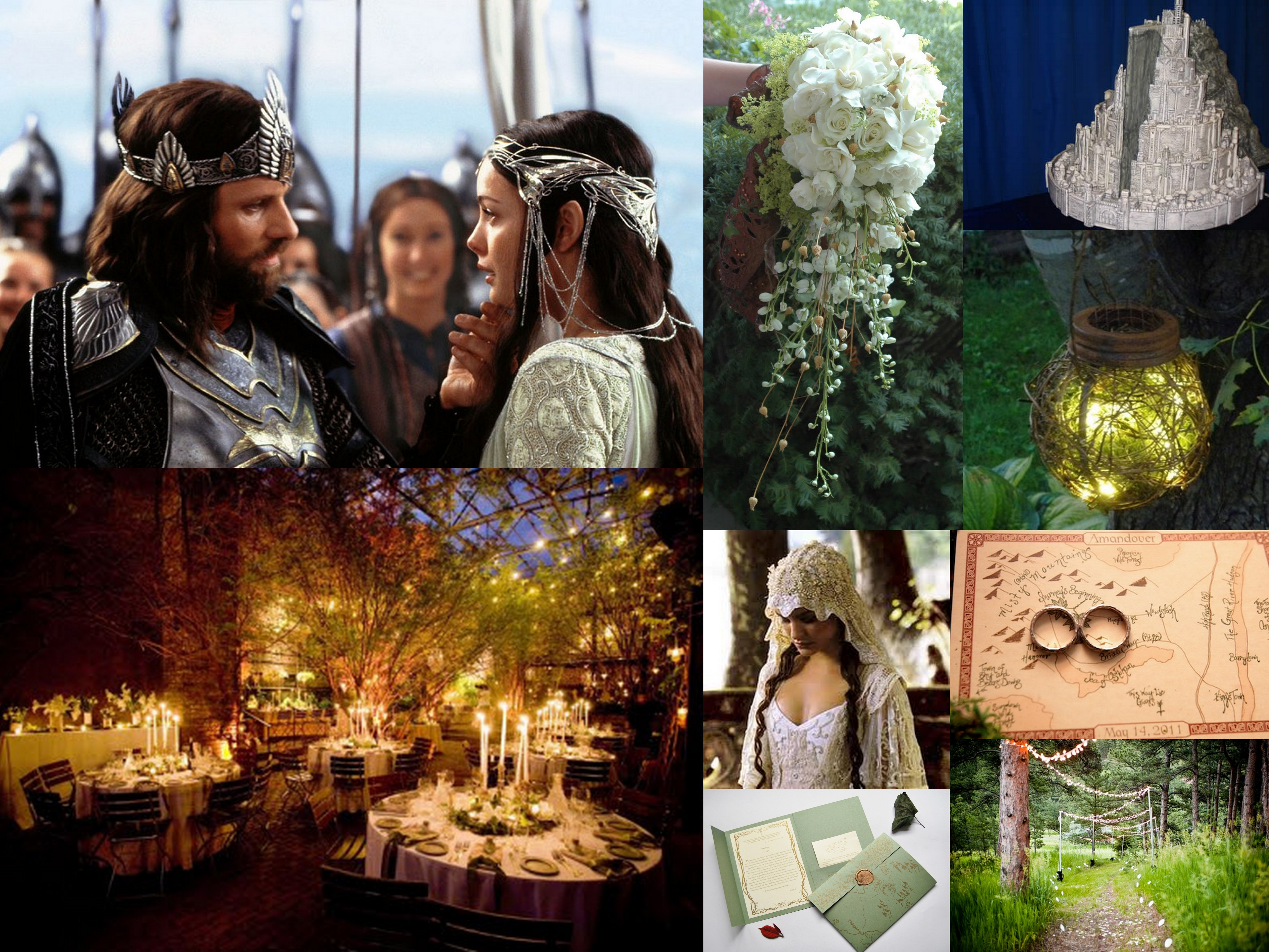 Lord Of The Rings Wedding Inspiration