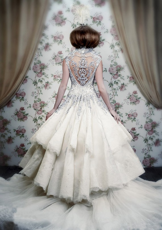 The back s where it s at fantastical wedding stylings for Winter style wedding dresses