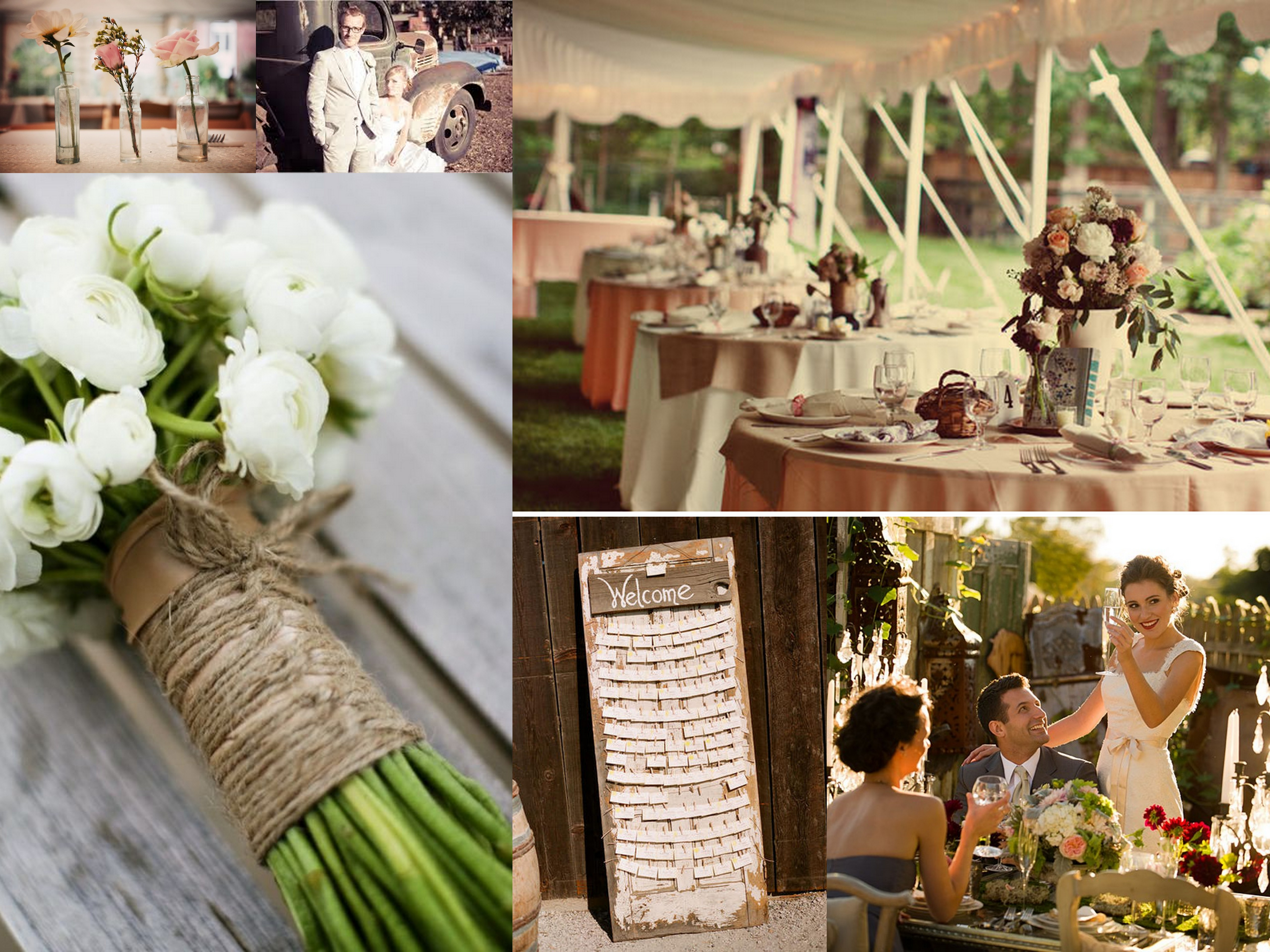 Shabby Chic Wedding Inspiration Fantastical Wedding Stylings
