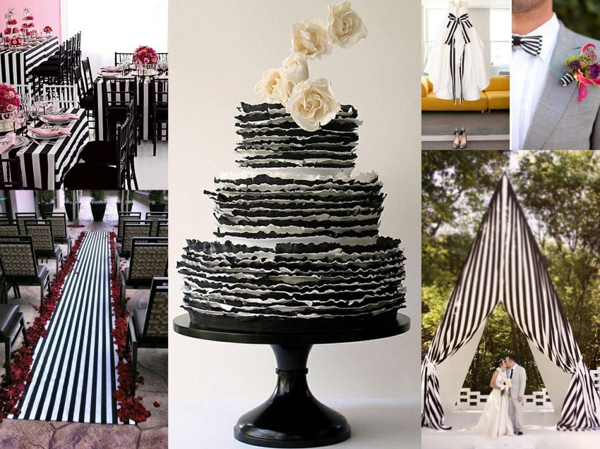 Stripes of Joy Wedding Theme Collage