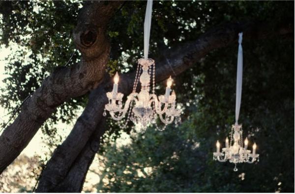 Outdoor chandelier fun fantastical wedding stylings see also outdoor chandelier ideas chandeliers wedding tablescapes mozeypictures Gallery