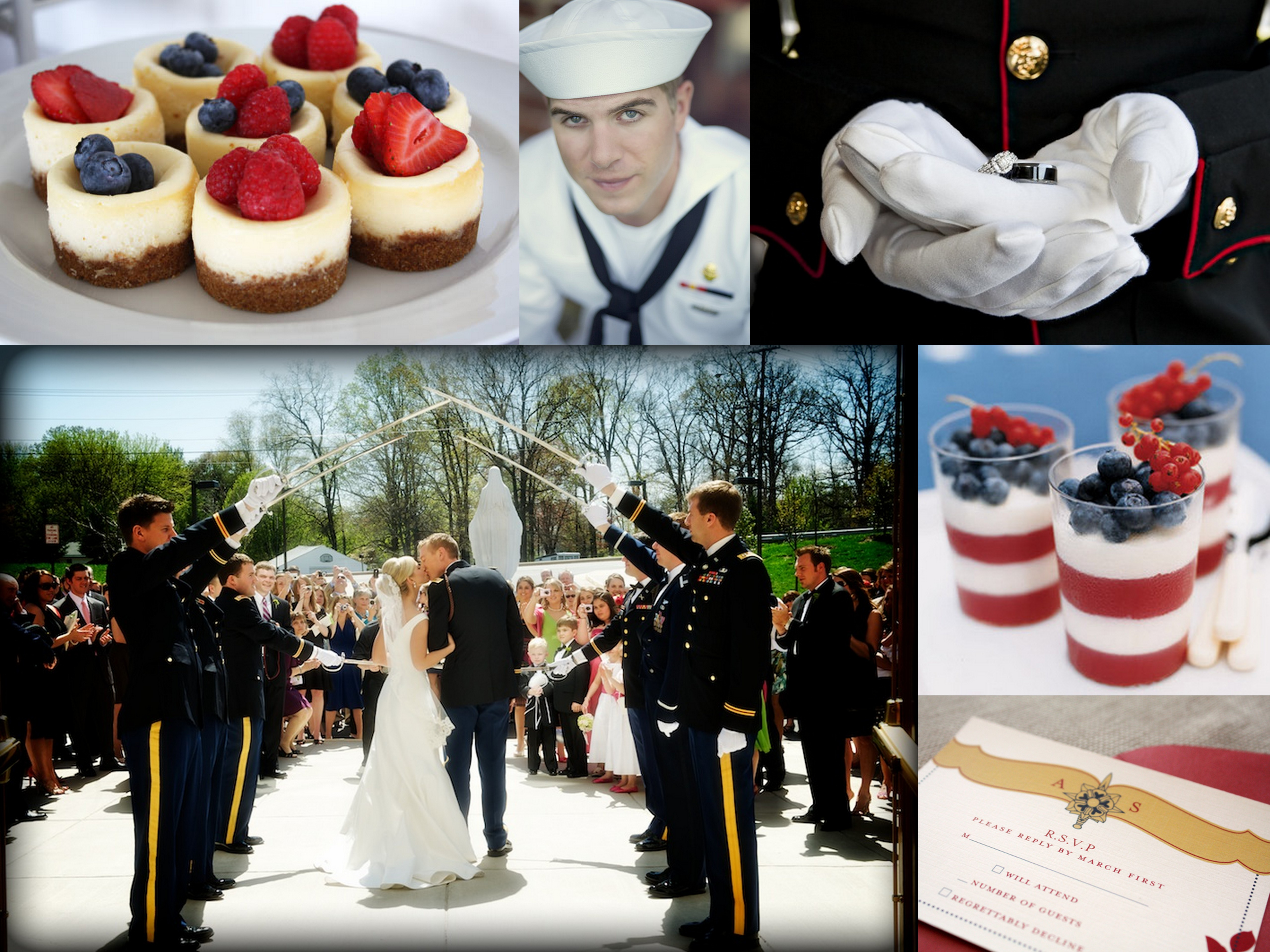 In Honour Of Memorial Day A Military Wedding Theme