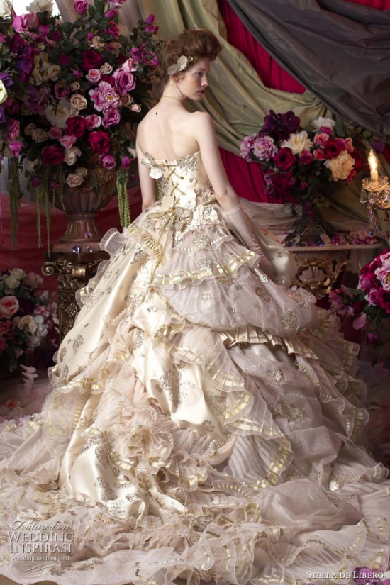 Princess Sissi Gown Inspiration Fantastical Wedding Stylings