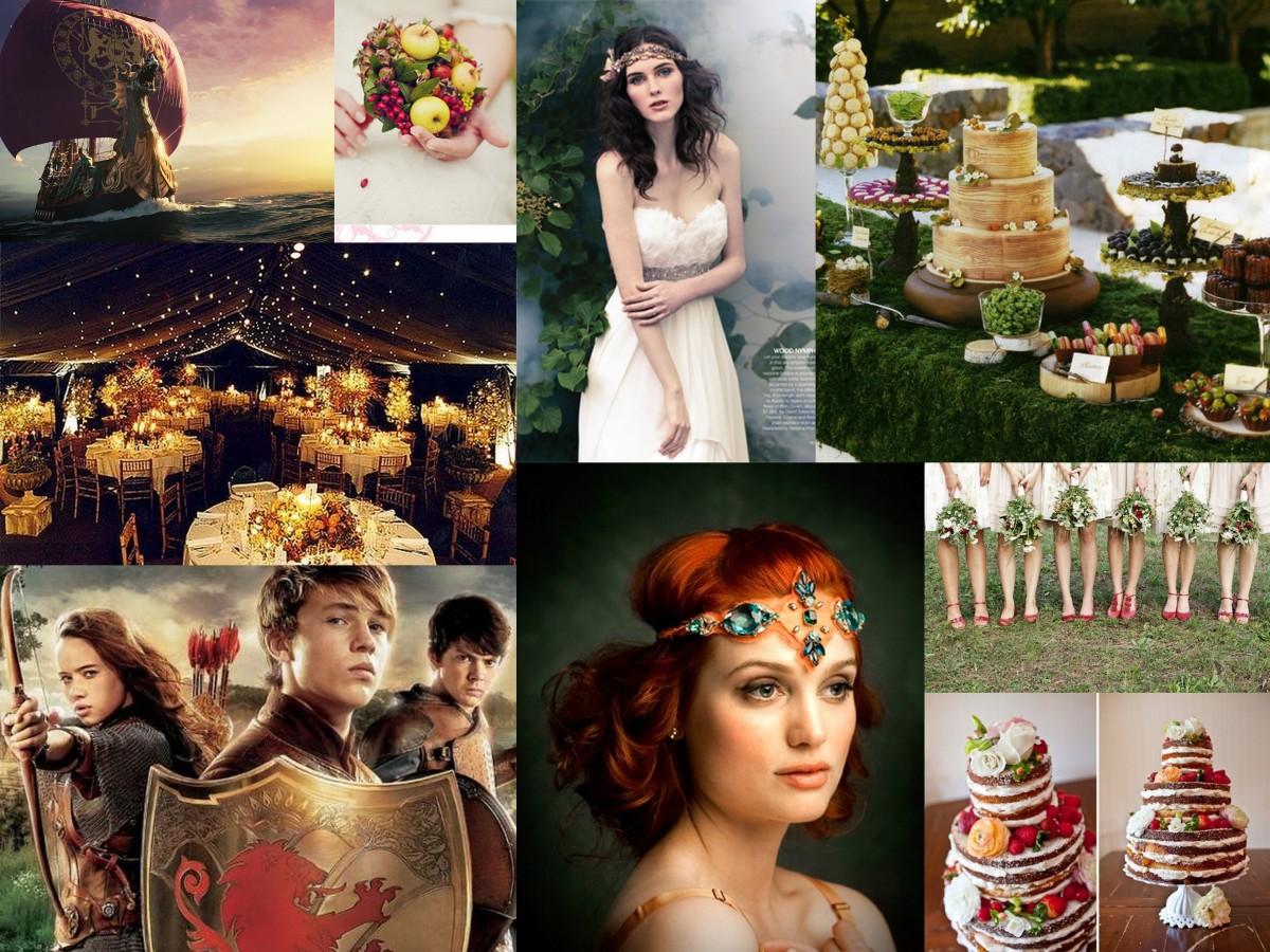 a narnian wedding theme fantastical wedding stylings