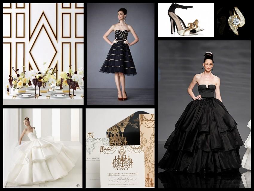 BlackGold Ballroom Collage