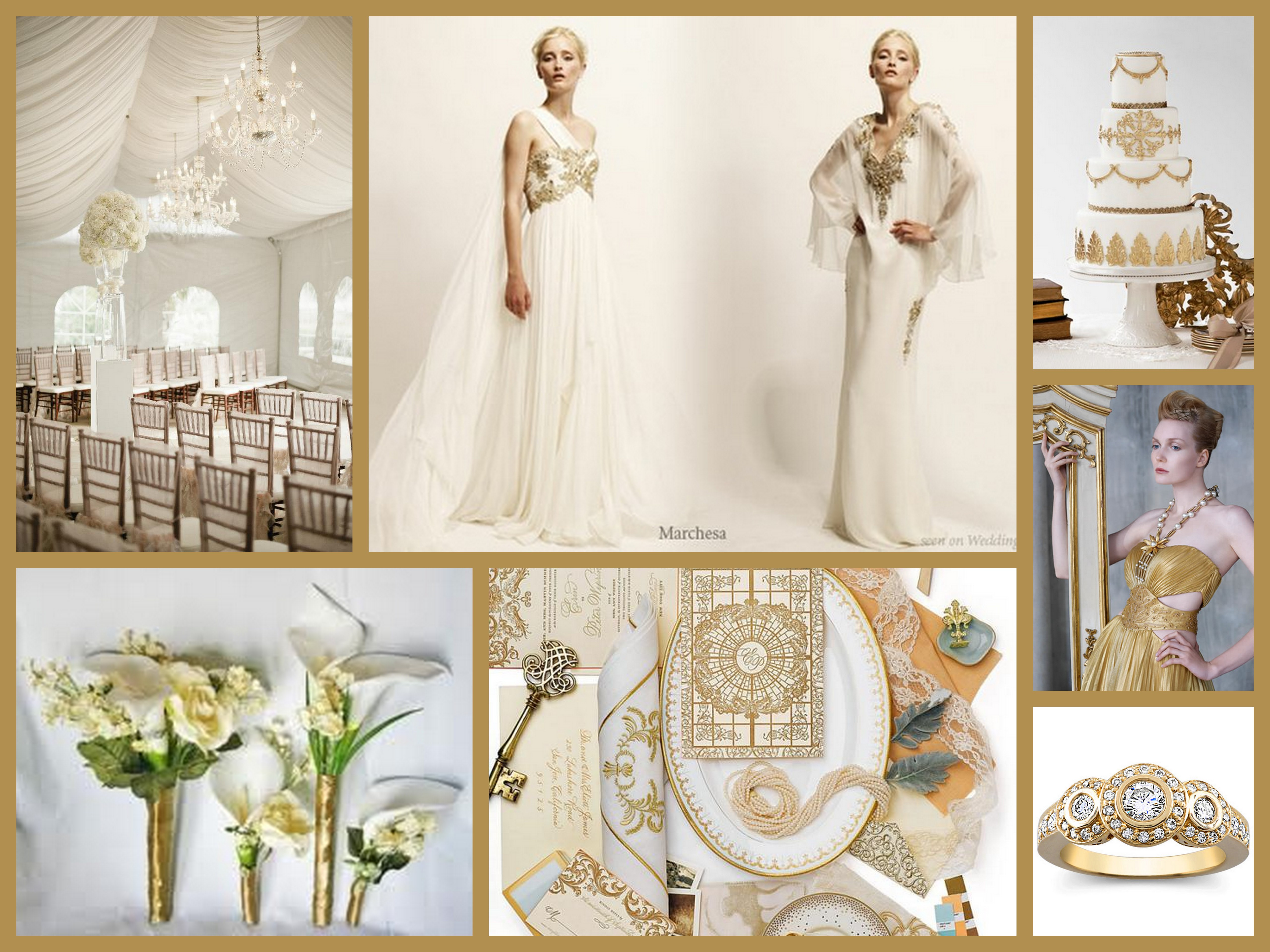 White Gold Goddess Wedding Inspiration | Fantastical Wedding Stylings