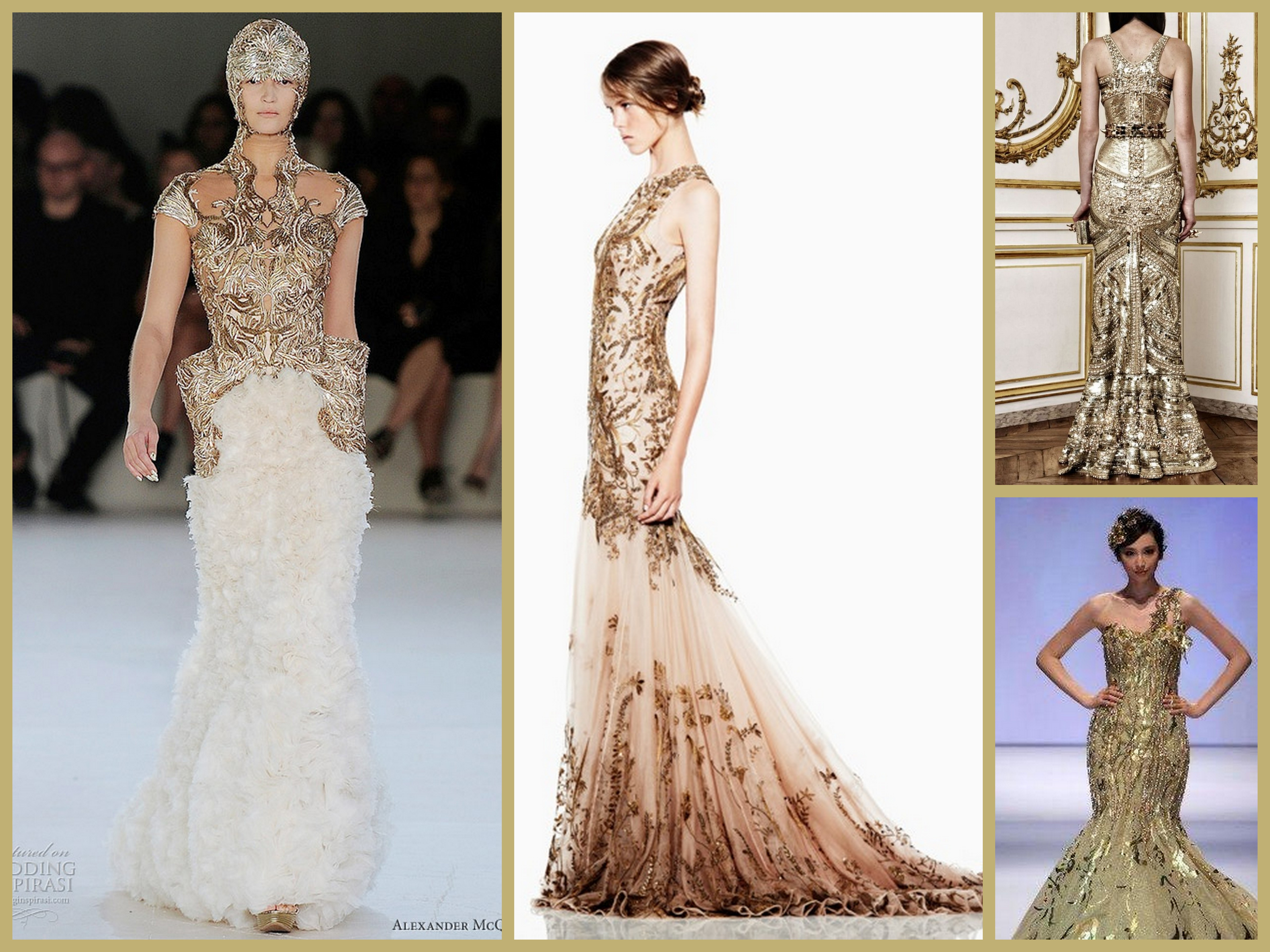 Gilded Treasures Gowns Fantastical Wedding Stylings