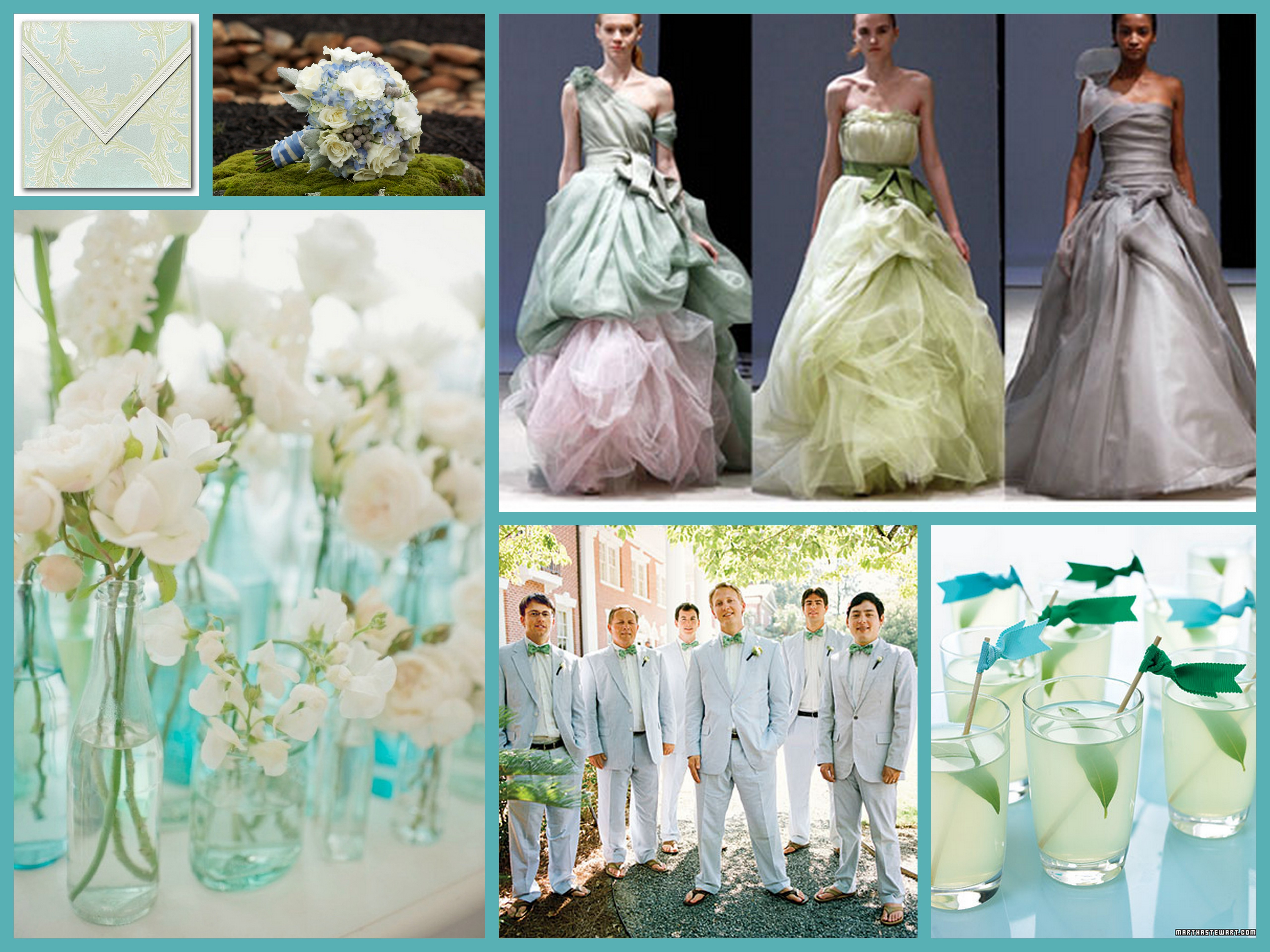 Turquoise beauty fantastical wedding stylings for Turquoise gold wedding theme