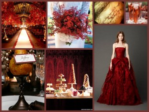 Autumn Reds Collage