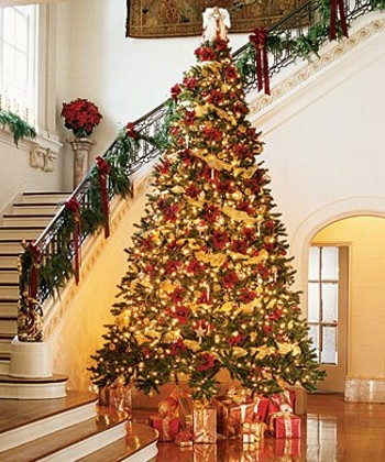 gold christmas tree white christmas tree with red christmas tree ...