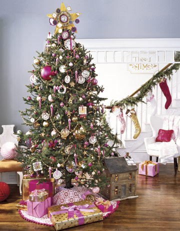 pink gold christmas tree ii