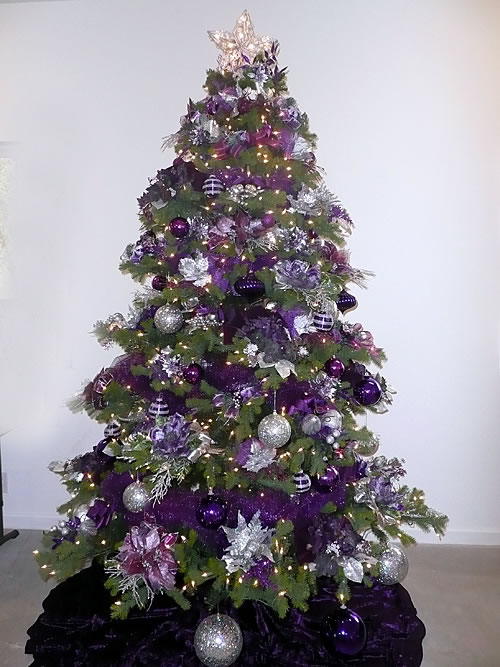 purple silver christmas tree iii