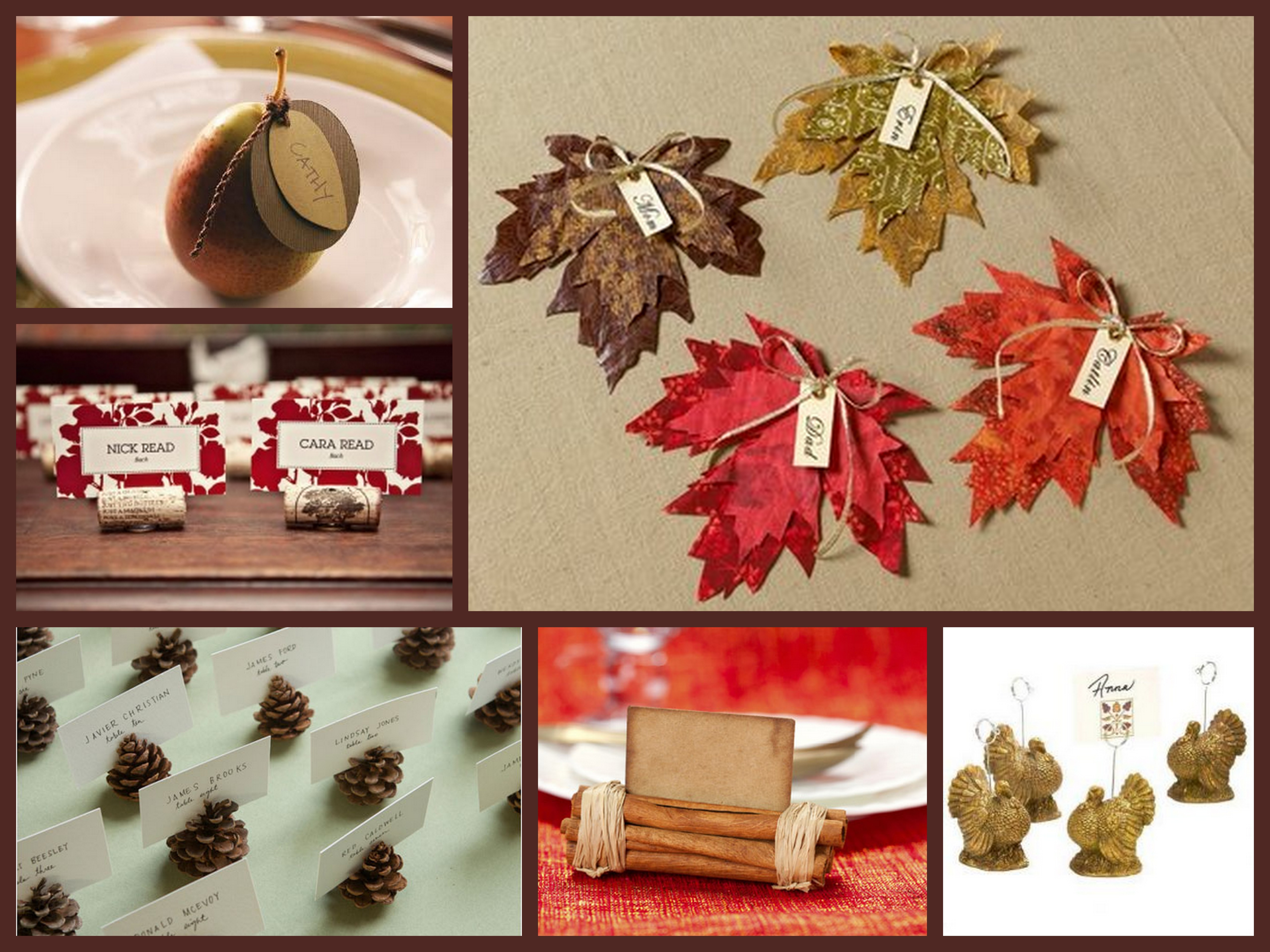 Place Cards Decorating Ideas Pinterest Thanksgiving