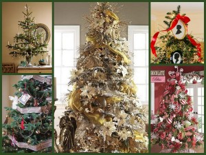 Christmas Tree Themes Collage