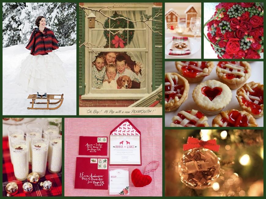 Christmas Wedding Collage, II