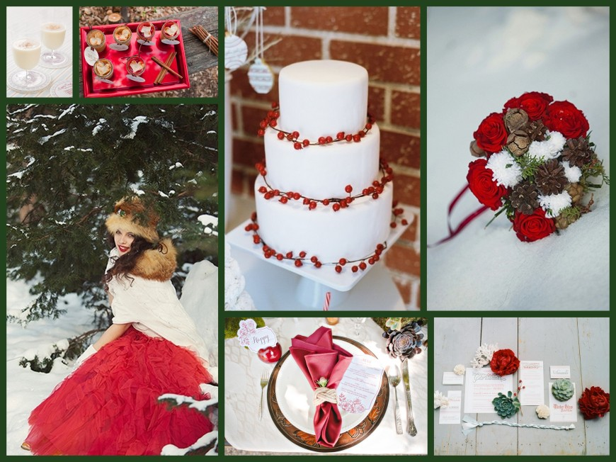 Christmas Wedding Collage, III