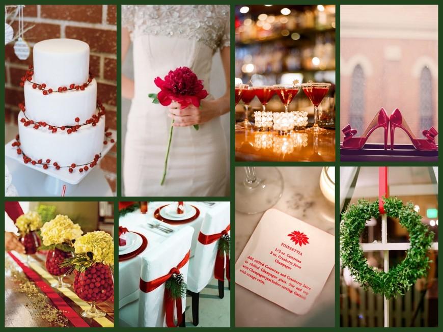 Christmas Wedding Collage, IV