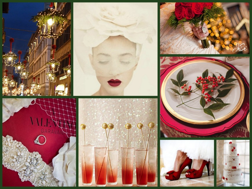 Christmas Wedding Collage, One