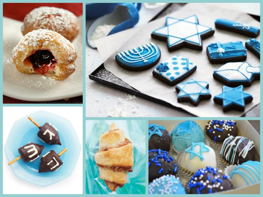 Hanukkah Treats Collage