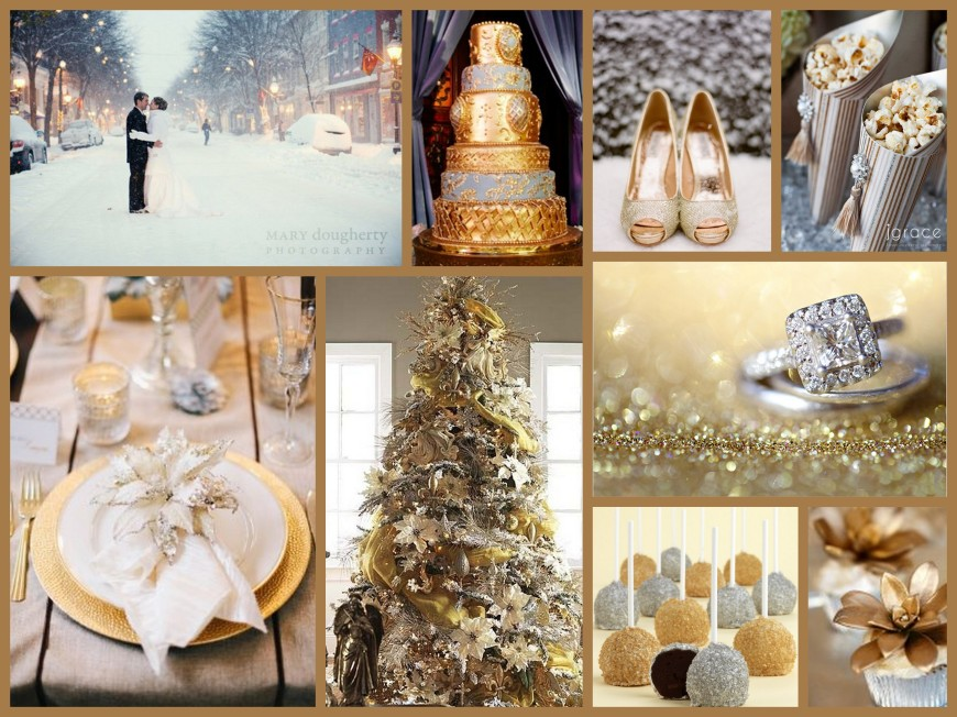 Silver gold fantastical wedding stylings - Gold and silver color scheme ...