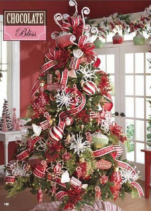 Christmas tree theme fantastical wedding stylings Over the top christmas tree decorations