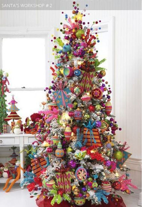 Christmas Tree Theme Ideas Color