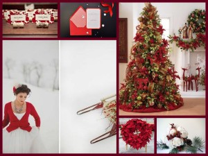 Winter Reds Collage