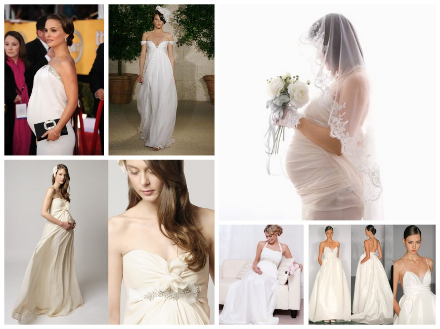 Maternity Wedding Dress Collage