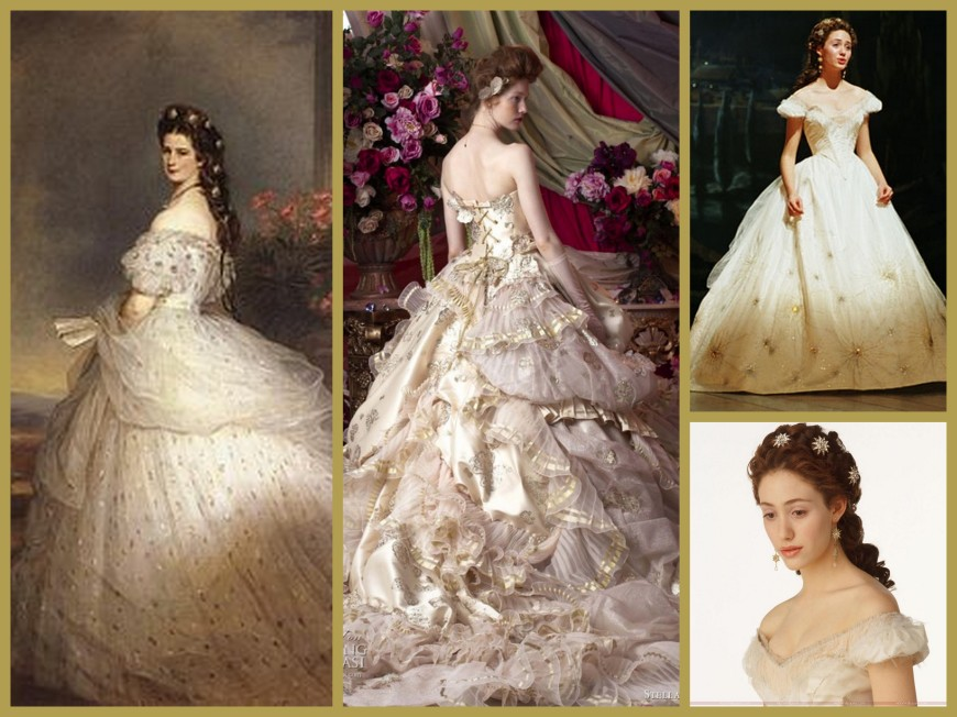 Princess Sissi Gown Inspiration Collage
