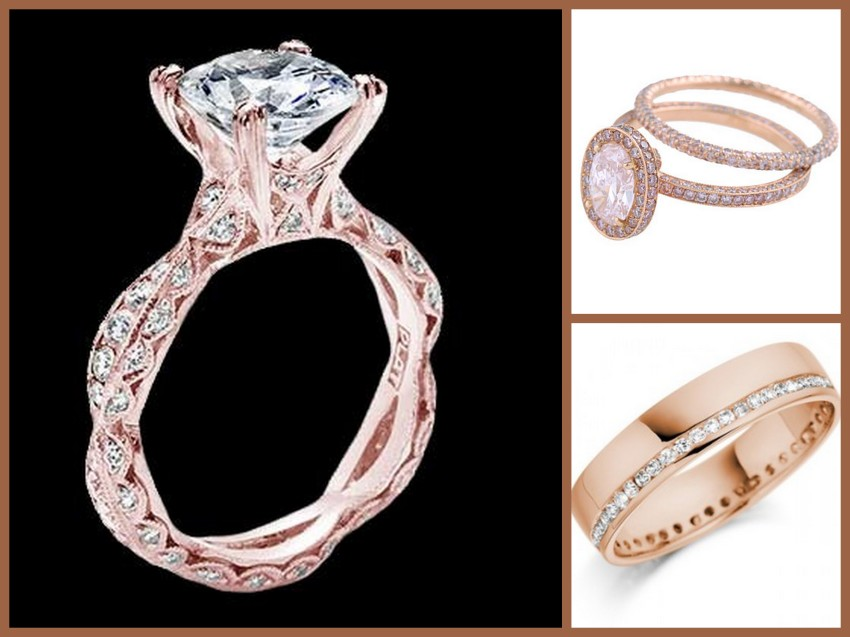 Rose Gold Rings Collage