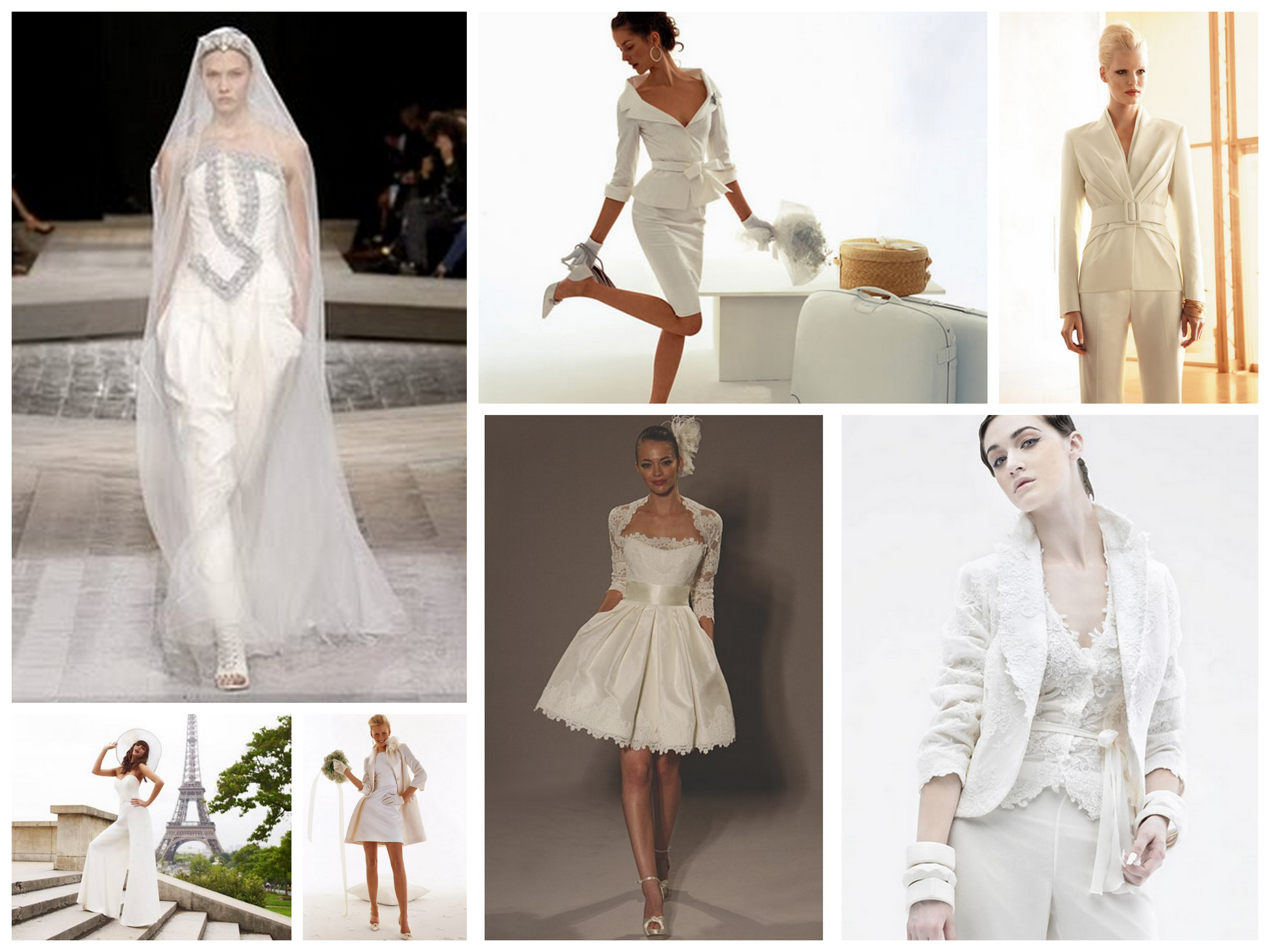 wedding dress alternatives collage