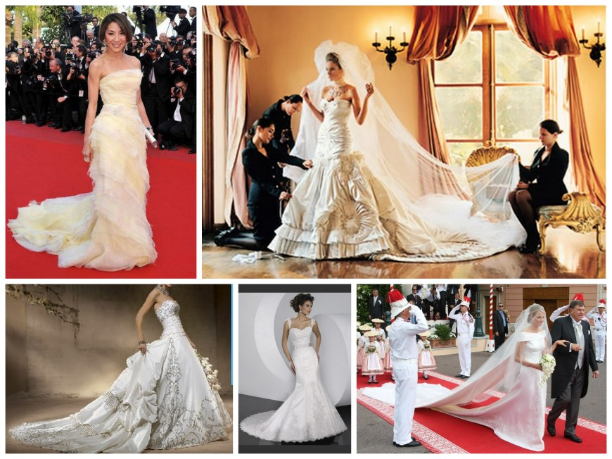 Wedding Dress Train Lengths Collage
