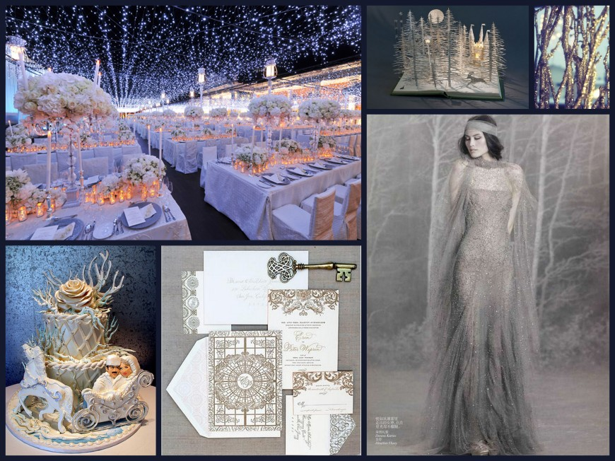 Winter Comet Wedding Collage