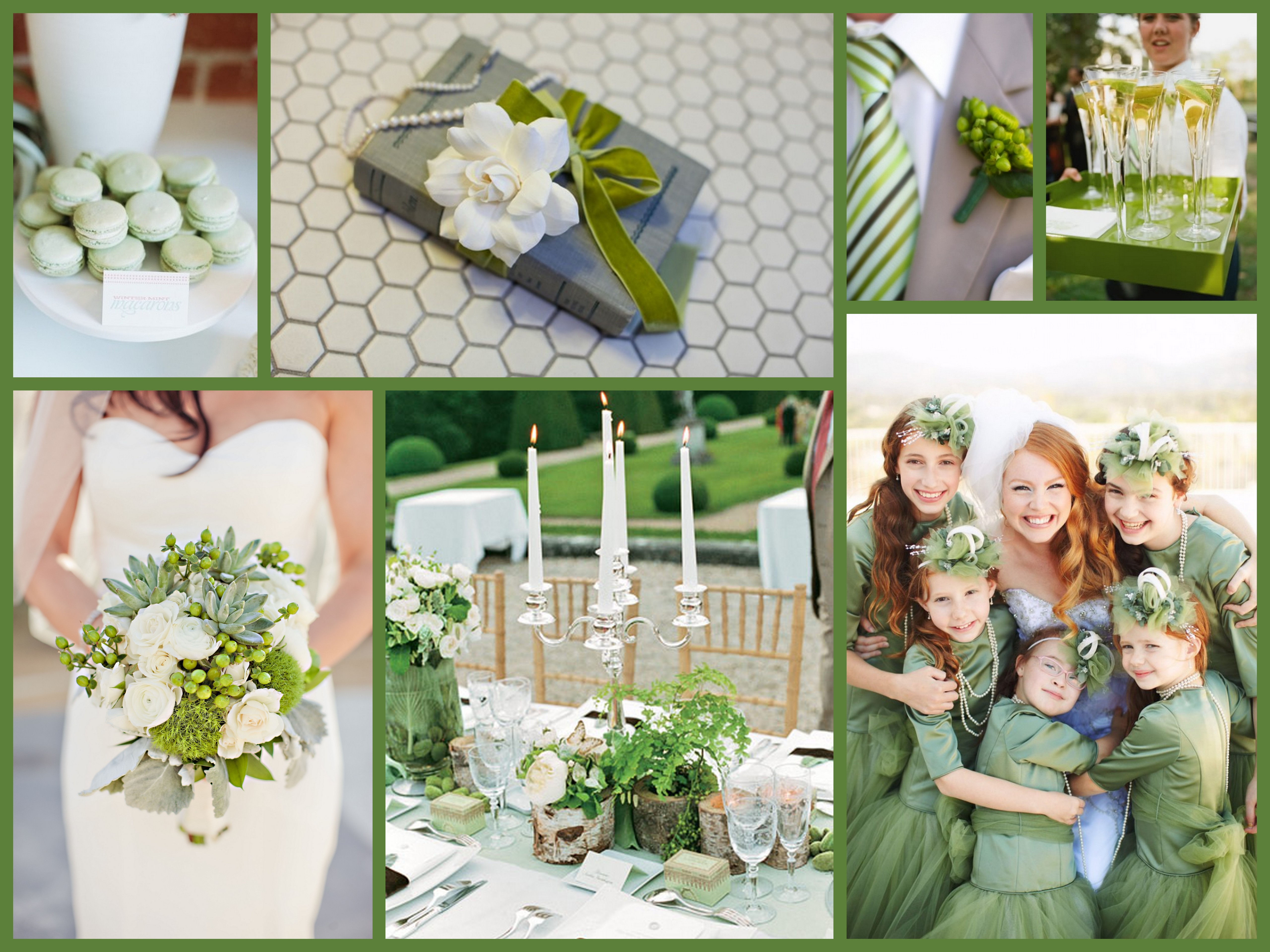 Spring wedding theme fantastical wedding stylings spring green colllage junglespirit Choice Image
