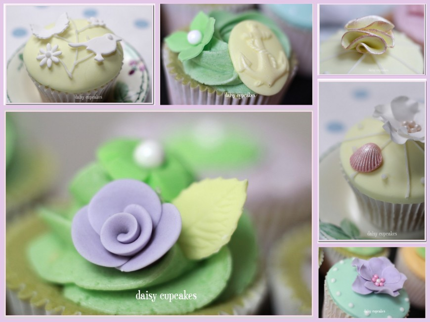Daisy Cupcakes Collage